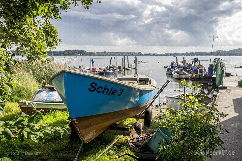 Das Fischerviertel Holm in Schleswig // Foto: MeerART