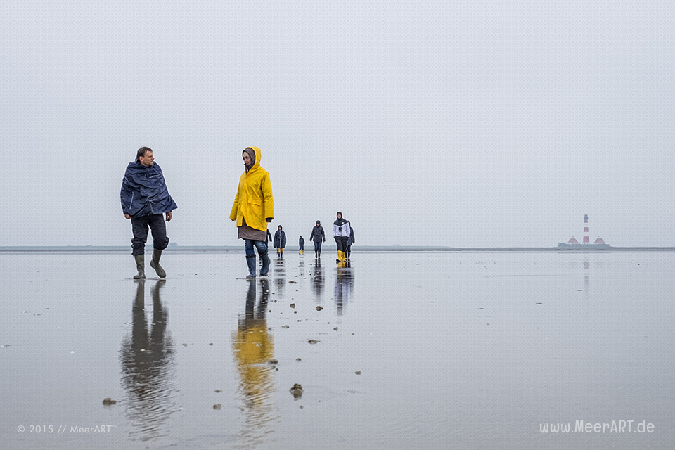 Seminarwochenende der Schutzstation Wattenmeer am Leuchtturm Westerhever // Foto: MeerART