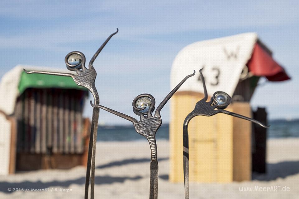 """Gemeinschaftsprojekt """"Die Reise"""" (Plastiken: Oliver Gevert, Fotos: Ralph Kerpa) präsentiert von MeerART"""