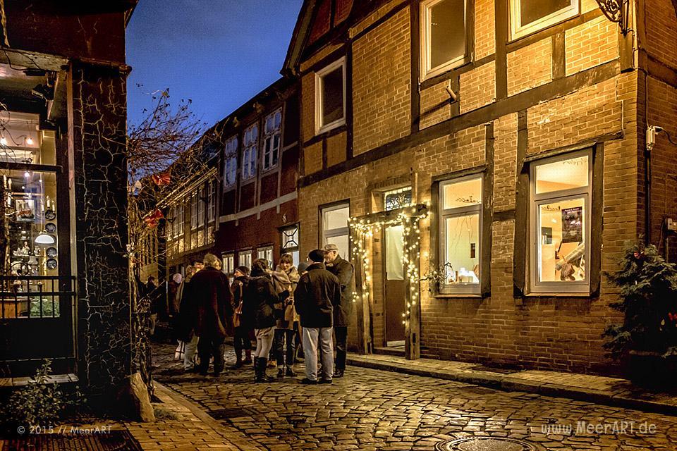 Ausstellung am 1. Advents-Wochenende in der Altstadt von Lauenburg // Foto: MeerART