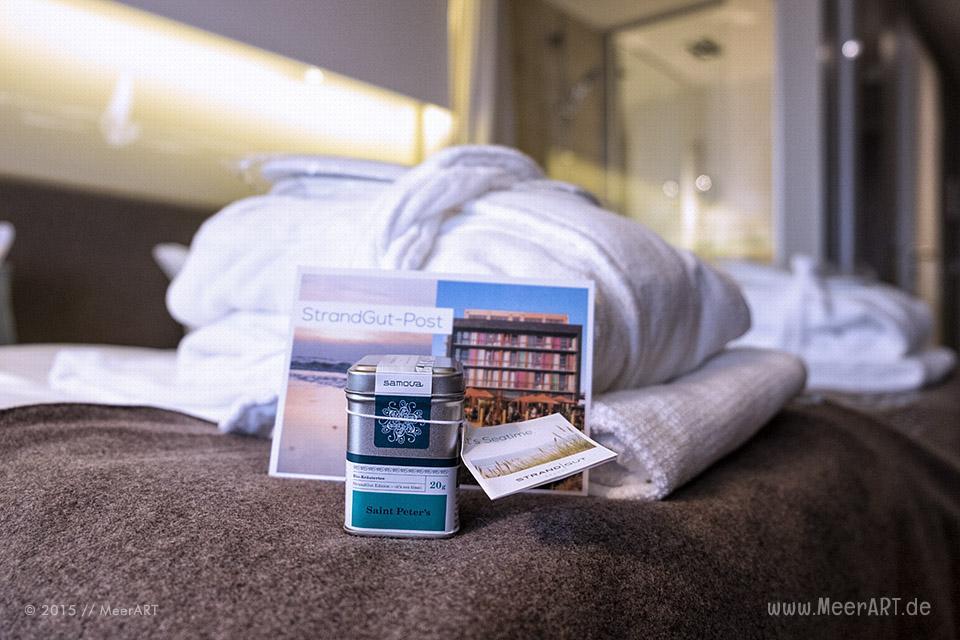 Ein Wochenende im StrandGut Resort Hotel direkt an der Nordsee in St. Peter Ording im Dezember 2015 // Foto: MeerART