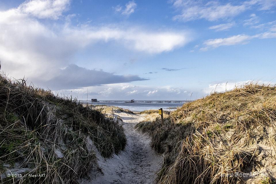 Ein stürmisches Wochenende an der Nordsee in St. Peter-Ording // Foto: MeerART