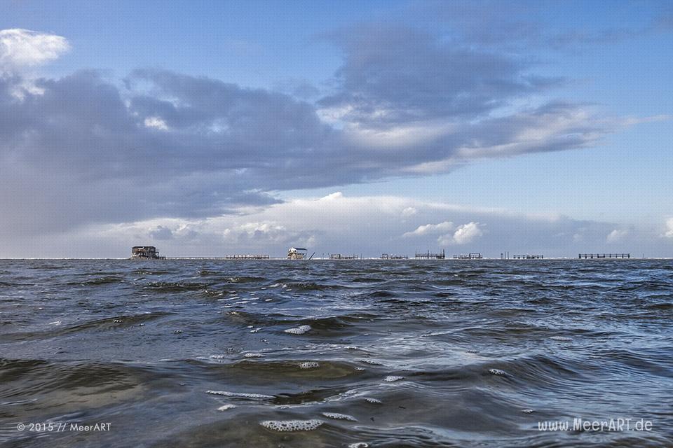 Ein stürmisches Wochenende an der Nordsee in St. Peter-Ording // Foto: MeerART / Ralph Kerpa
