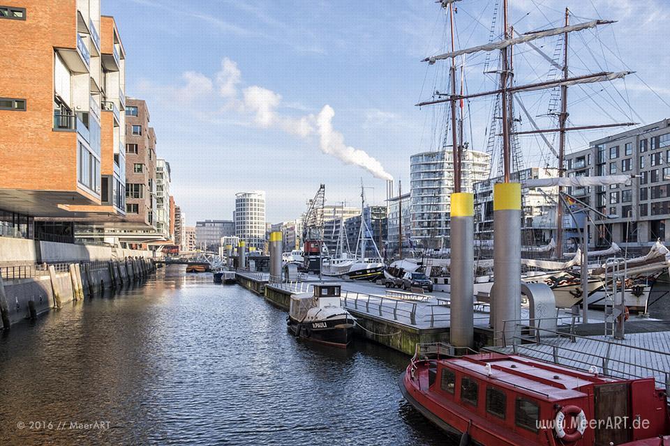 Impressionen vom Sandtorkai in der HafenCity Hamburg im Winter 2016 // Foto: MeerART
