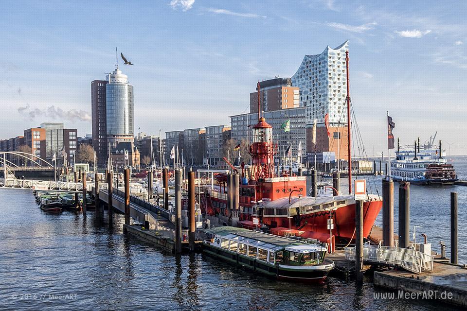 Impressionen aus dem Hamburger Hafen vom Januar 2016 // Foto: MeerART / Ralph Kerpa