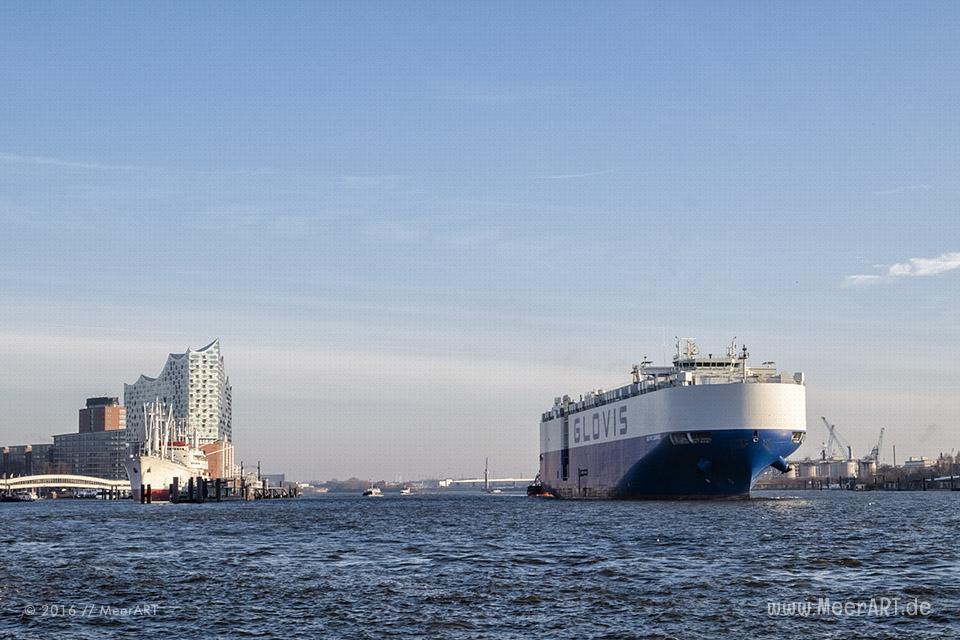 Impressionen aus dem Hamburger Hafen vom Januar 2016 // Foto: MeerART