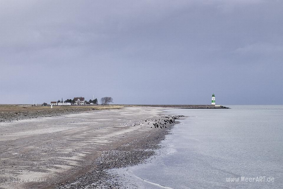"""Blick auf die Lotseninsel Schleimünde vom """"Ostsee Resort Olpenitz"""" // Foto: MeerART"""