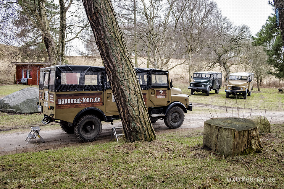 Hanomag-Jeep-Safari zur Halbinsel Jasmund // Foto: MeerART
