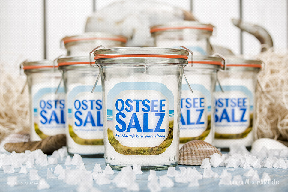 Ein regionales und handgearbeitetes Meersalz ohne Zusatzstoffe produziert von der Ostseesalzmanufaktur // Foto: Ralph Kerpa