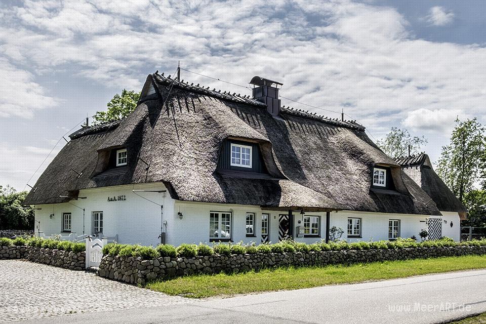 Reetdachhaus an der Ostseeküste auf der Halbinsel Schwansen // Foto: MeerART