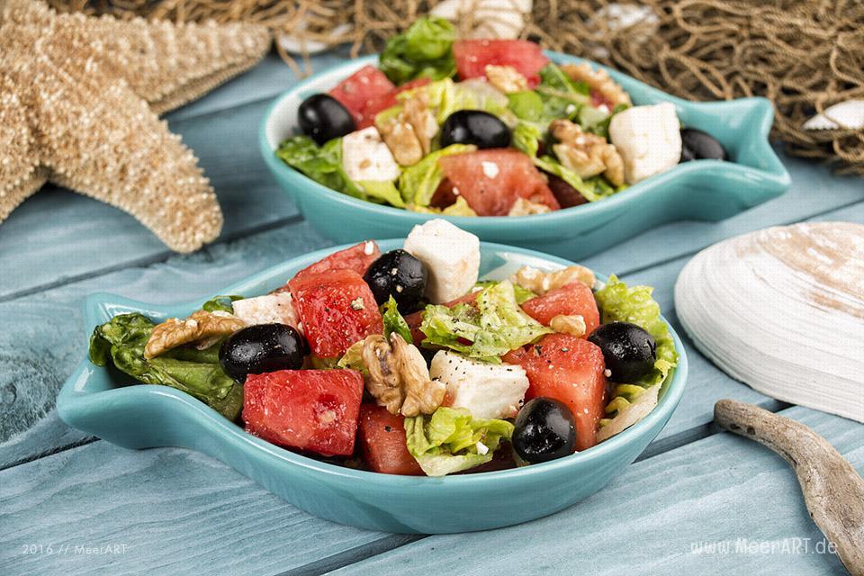 Rezept-Tipp: Wassermelonensalat // Foto: MeerART