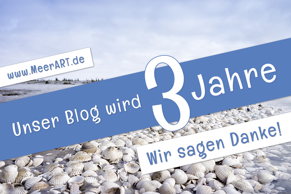 Unser Blog wird 3 Jahre. Wir sagen Danke!