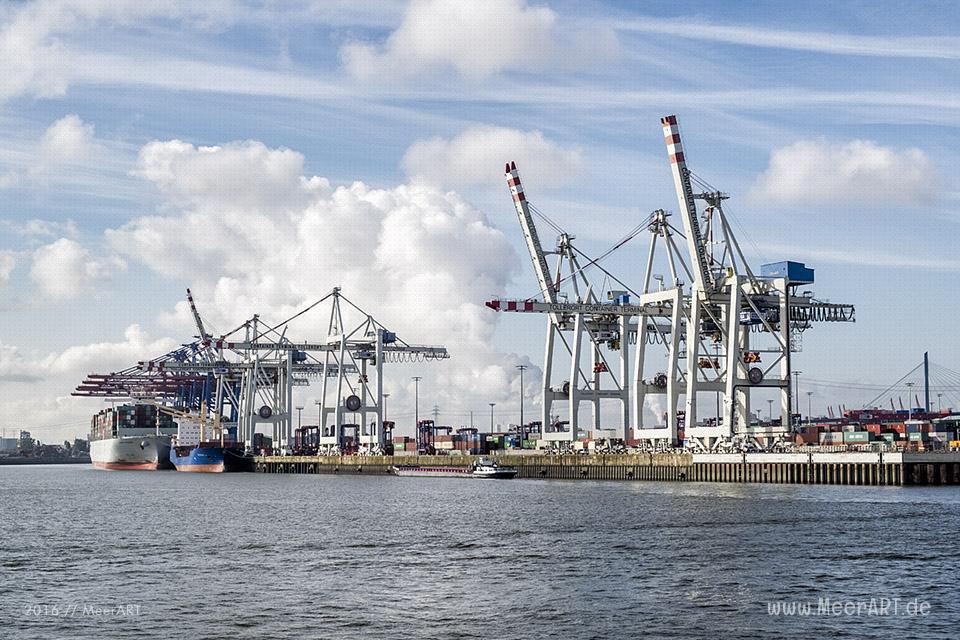 "Blick auf den Container Terminal ""TOLLERORT"" // Foto: MeerART"
