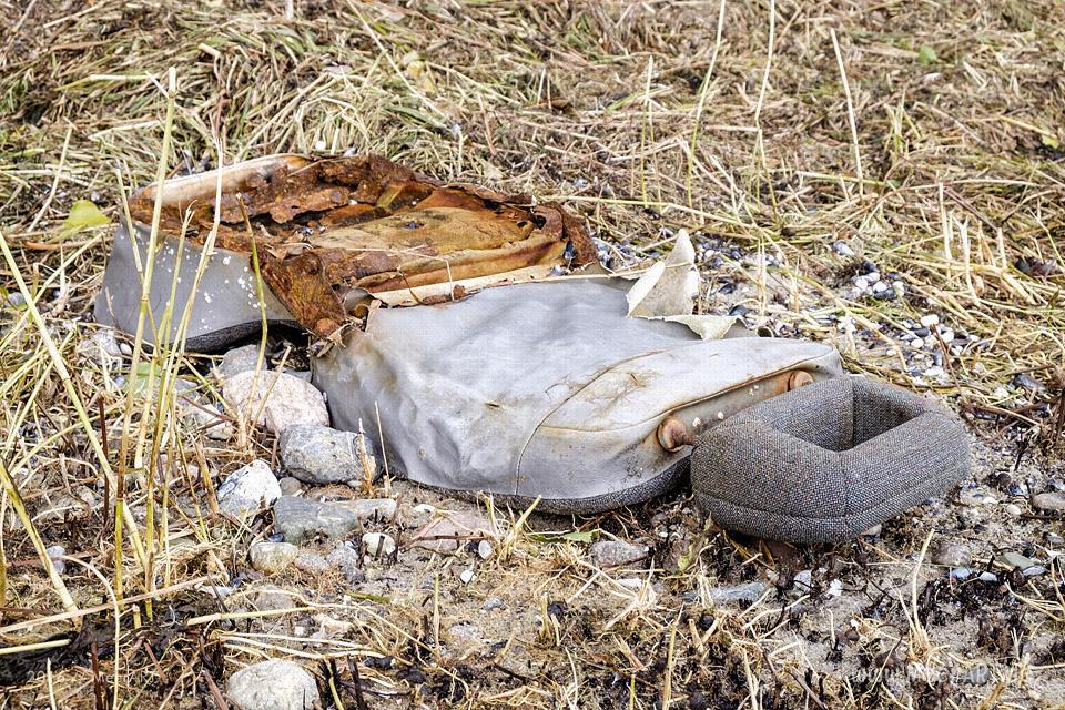 Angespülter Müll an den idyllischen Naturstränden von Zierow // Foto: MeerART