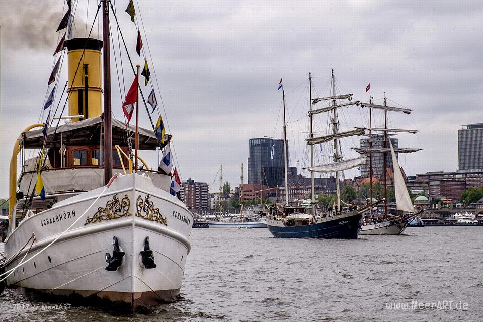 Der Hamburger Hafen feiert seinen 828. Hafengeburtstag // Foto: MeerART