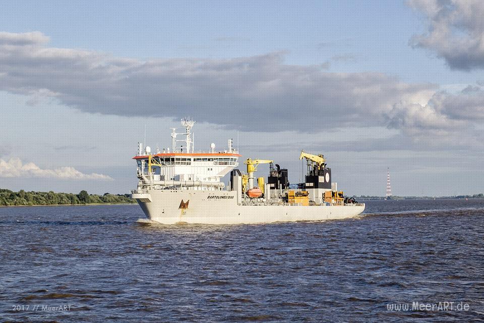 "Das Baggerschiff ""BARTOLOMEU DIAS"" - IMO 9618991 // Foto: MeerART"
