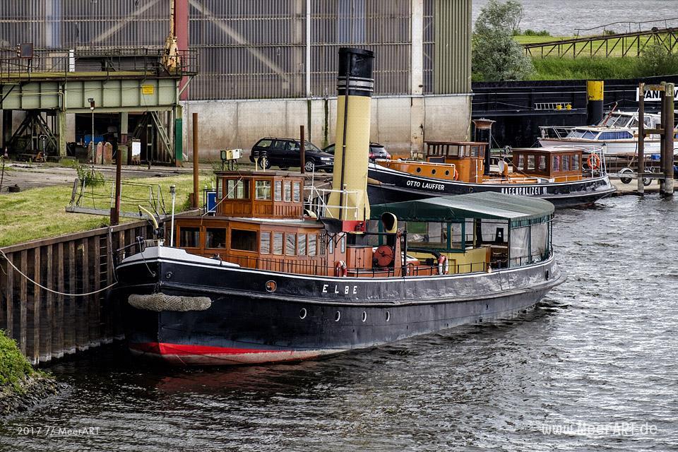 Der Dampfeisbrecher ELBE am Liegeplatz in der Hitzler-Werft in Lauenburg // Foto: MeerART