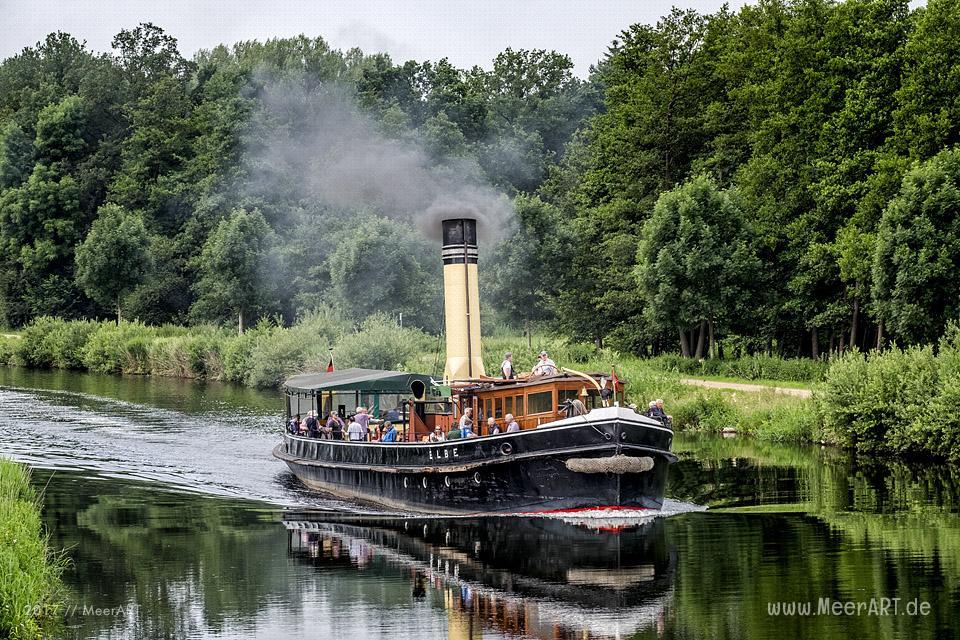Der Dampfeisbrecher ELBE am 22.06.2017 auf dem Elbe-Lübeck-Kanal unterwegs nach Lübeck // Foto: MeerART
