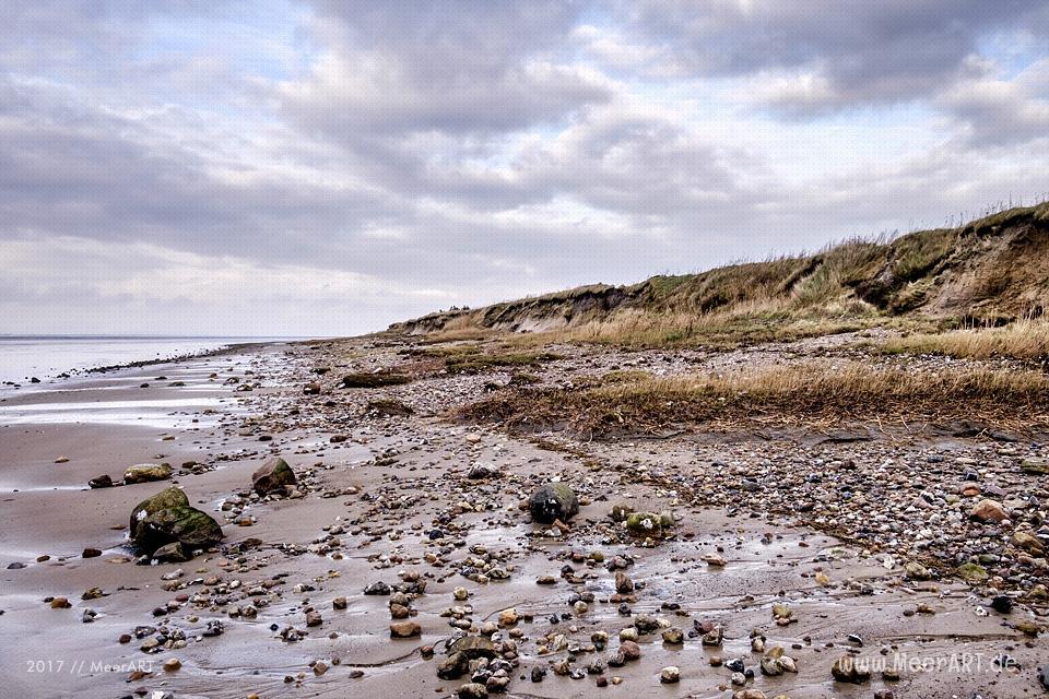 Strandabschnitt an der Nordsee bei Hjerpsted in Dänemark // Foto: Ralph Kerpa