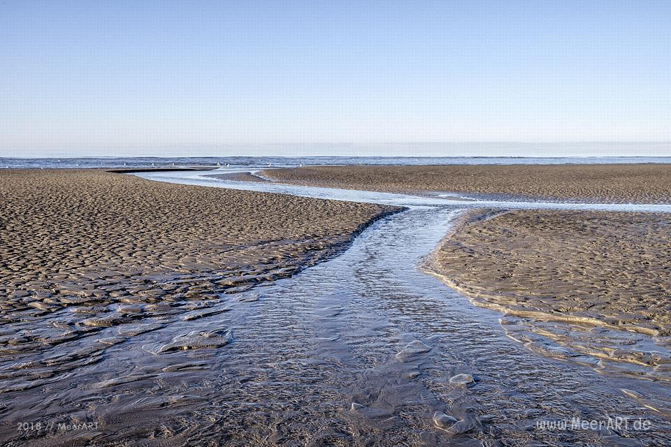 Der weitläufige Sandstrand bei Lakolk auf der dänischen Wattenmeerinsel Röm // Foto: Ralph Kerpa