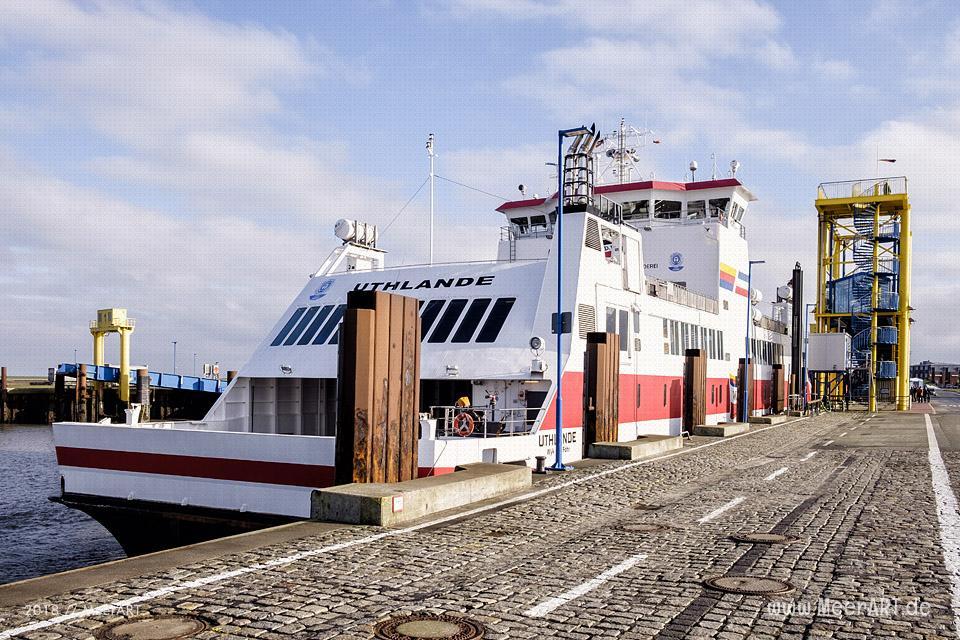 Dagebüll mit seinem Fährhafen an der Nordseeküste in Nordfriesland // Foto: Ralph Kerpa