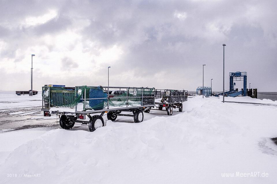 Wintereinbruch am Fährhafen Schlüttsiel in Nordfriesland // Foto: Ralph Kerpa