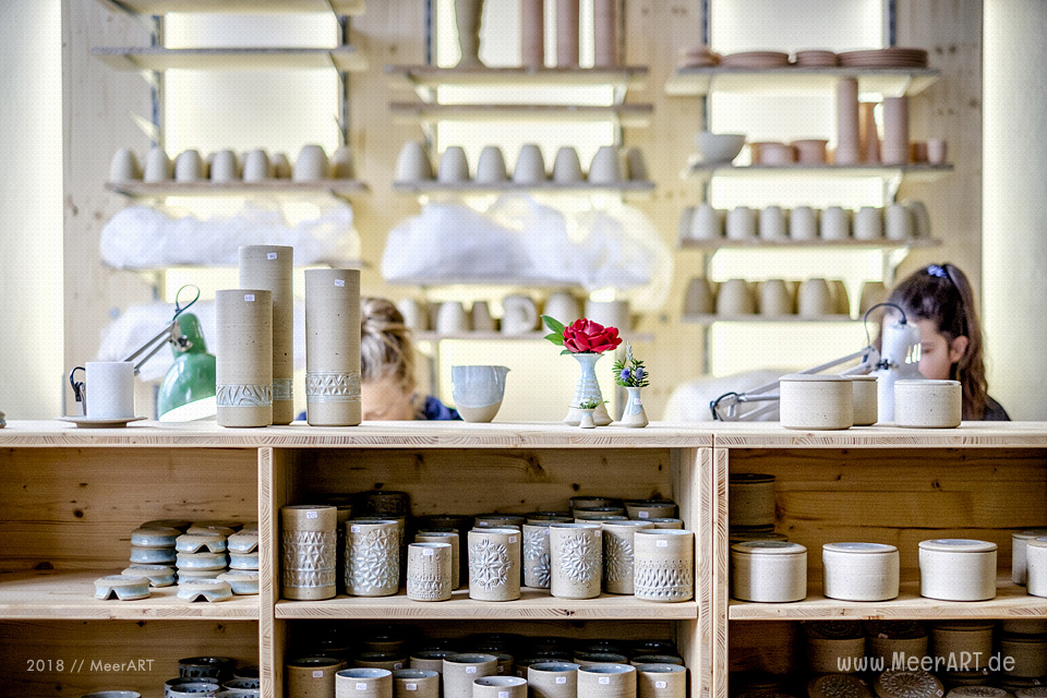 Reportage aus der Keramik Werkstatt von Maria Ziaja in Friedrichstadt // Foto: MeerART / Ralph Kerpa