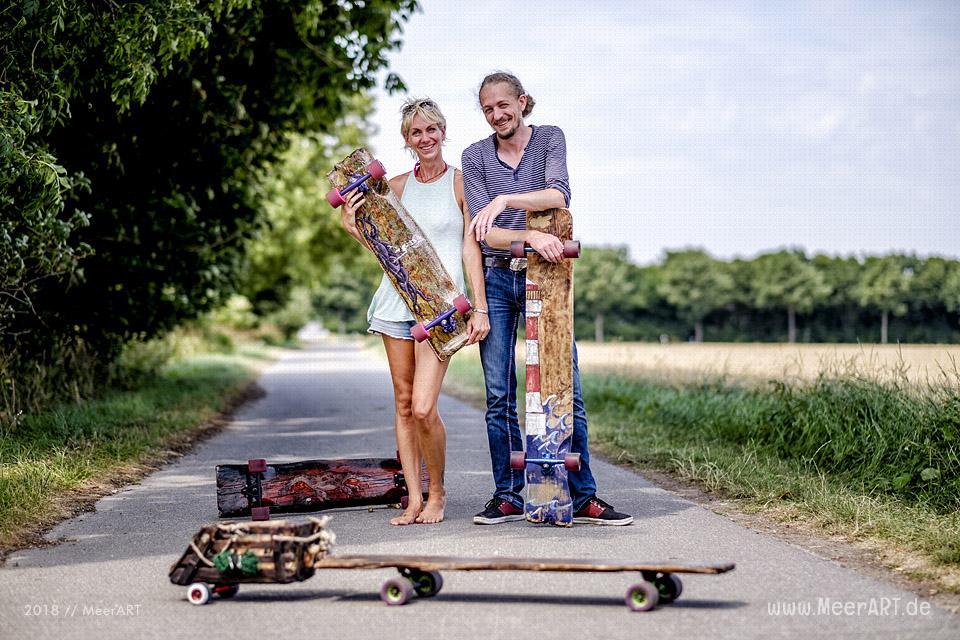 Knatta Planke Longboards – Kevin Klüver baut in seiner Manufaktur innovative und nachhaltige Unikate // Foto: MeerART / Ralph Kerpa