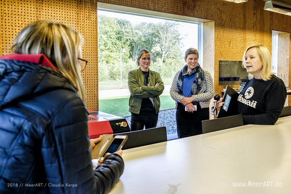 Co-working mit der deutsch-dänischen Beachcamp 2018 Delegation in Tønder // Foto: MeerART / Claudia Kerpa