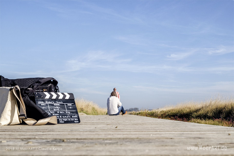 "Shooting am Strand von St. Peter-Ording für ""Micha´s Insel"" // Foto: Claudia Kerpa"