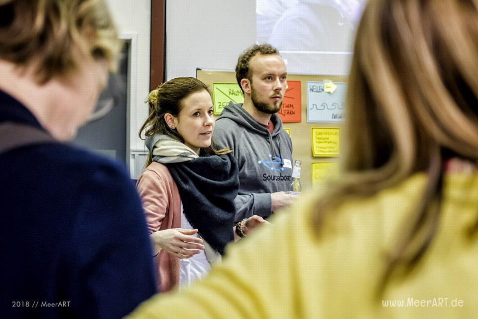 """Das Barcamp """"grenzenløs 2018"""" auf dem GreenTEC Campus in Enge-Sande (Nordfriesland) // Foto: MeerART"""