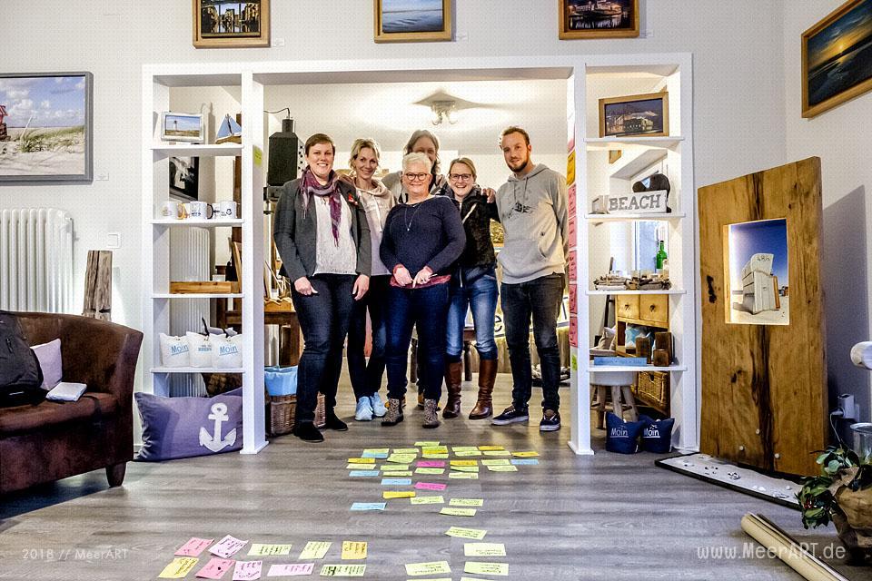 Erstes deutsch-dänisches Kooperationsbrainstorming in Langenhorn im Atelier MeerART // Foto: MeerART