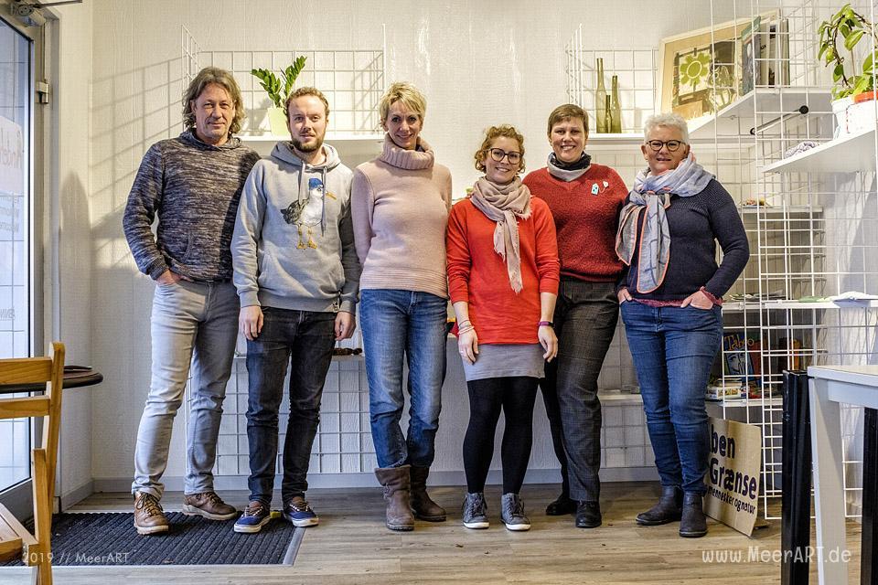 Treffen der deutsch-dänisches Arbeitsgruppe in Skærbæk bei Åndehullet // Foto: MeerART