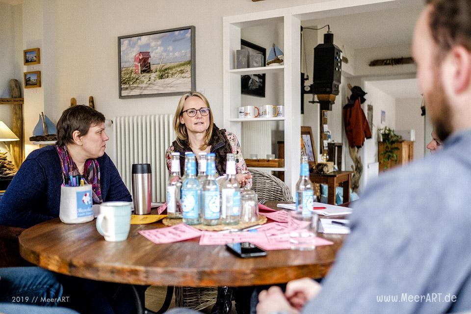 Grenzenløs-Arbeittreffen in Langenhorn im Atelier MeerART