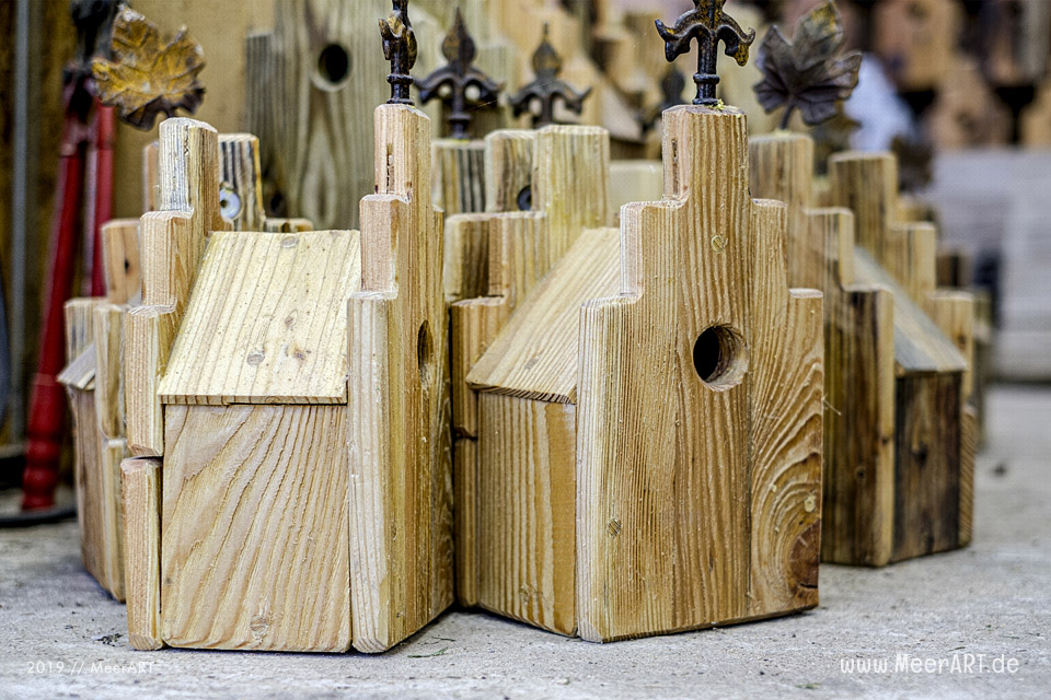 Nistkasten Vogelhäuschen Holz handgearbeitet im Nordsee Ostsee Design