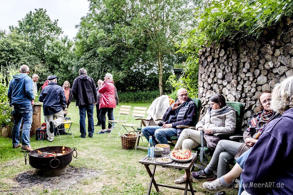 """""""Moin Nachbar"""" der Nordfriesentreff beim Hardenhof // Foto: MeerART"""