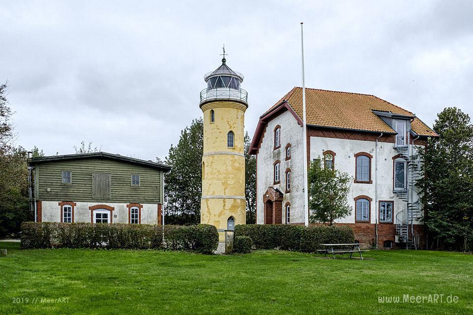 Der historische Leuchtturm Augustenhof Fyr // Foto: MeerART