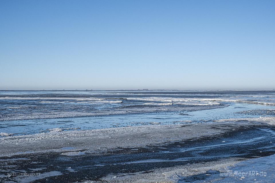 Winter 2021 auf der Hamburger Hallig Nordfriesland // Foto: MeerART